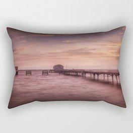 Daybreak at Mumbles Pier Rectangular Pillow
