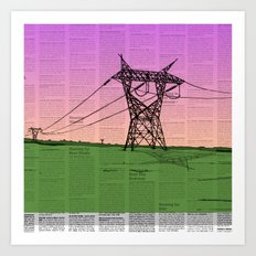 For Juliet (Powerlines-Classified) Art Print