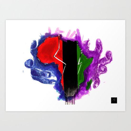 Africa Unite Art Print