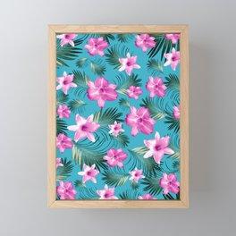 Tropical Flowers Palm Leaves Finesse #3 #tropical #decor #art #society6 Framed Mini Art Print