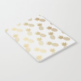 Gold Pineapple Pattern Notebook