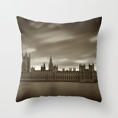 Houses of Parliament with Big Ben, London Throw Pillow