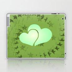 Two green hearts illusion Laptop & iPad Skin