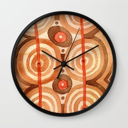 Shaman dance / Abstract tribal pattern Wall Clock