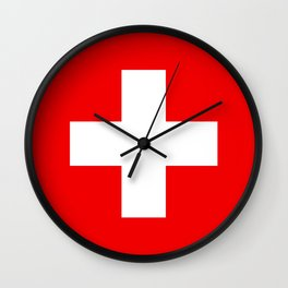 Flag of Switzerland - Authentic (High Quality Image) Wall Clock