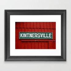 Kintnersville barn Framed Art Print