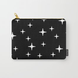 Mid Century Modern Star Pattern 443 Black and White Carry-All Pouch