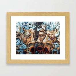 Splitting The Bull Framed Art Print