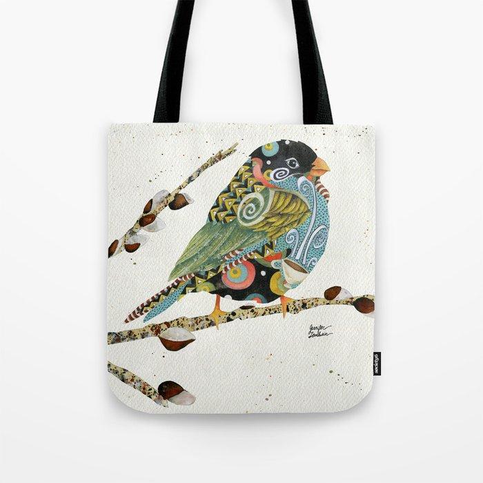 Cafe Swirly Bird 4 Tote Bag