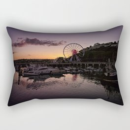 Torquay Harbour Sunset Rectangular Pillow