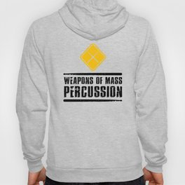 Weapons of Mass Percussion Drumstick Drum Player  Hoody
