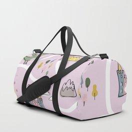 Childish seamless pattern with princess and dragon Duffle Bag
