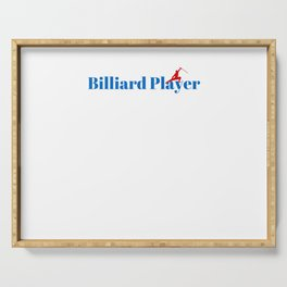 Top Billiard Player Serving Tray