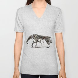 Mechanical T.Rex Unisex V-Neck