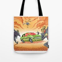 agents of shield Tote Bags featuring CIA Agents! by Moshik Gulst