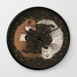 Foxes Wall Clock