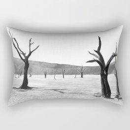 deadvlei desert trees acrbw Rectangular Pillow