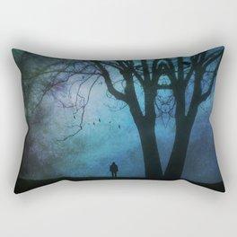 Rorschach Tree Rectangular Pillow