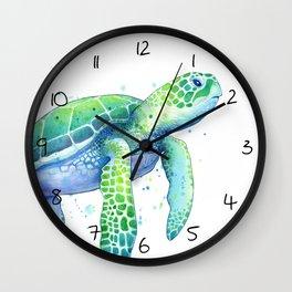 Green Sea Turtle Wall Clock