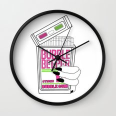 90s Bubble Beeper Chewing Gum with Gothic Nails Wall Clock