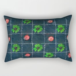 Clover and ladybugs tic-tac-toe pattern Rectangular Pillow