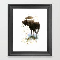 Moose Reflection Framed Art Print
