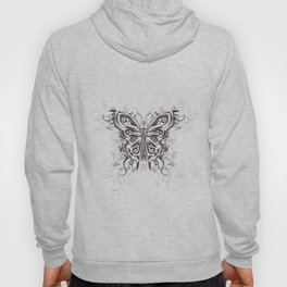 Beautiful filigree butterfly with flowers Hoody