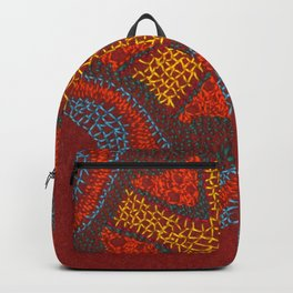 Growing - Clematis - plant cell embroidery Backpack