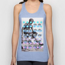 Statue With A Dot Gradient 2 Unisex Tank Top