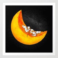 Mice & Moon Art Print