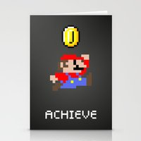 mario Stationery Cards featuring Mario by eARTh