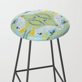 Blue Cockatoos Bar Stool