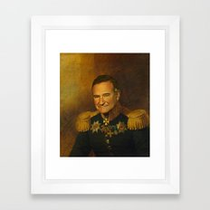 Robin Williams - replaceface Framed Art Print