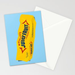 Discarded gum wrapper Stationery Cards