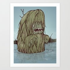 It came from the swamp Art Print