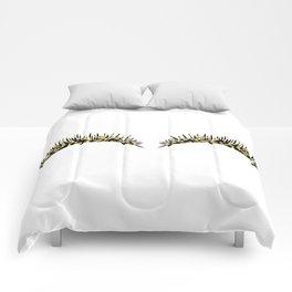 Golden dazzle lashes Comforters