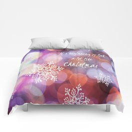 It's Beginning To Look a Lot Like Christmas. Comforters