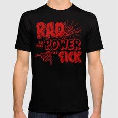 Rad to the Power of Sick - Red Print X-LARGE Black Mens Fitted Tee