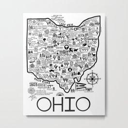 Ohio Map Metal Print