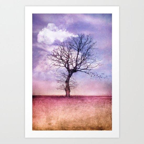 ATMOSPHERIC TREE   Early Spring Art Print