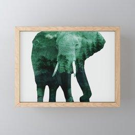 The elephant owns the forest Framed Mini Art Print