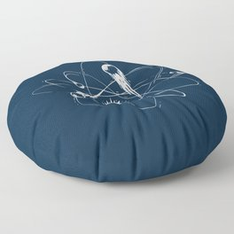 Atomic Meteors Floor Pillow