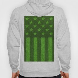 The grass and stripes / 3D render of USA flag grown from grass Hoody