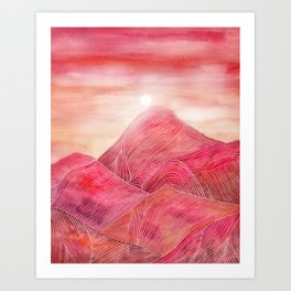 Lines in the mountains XXIII Art Print