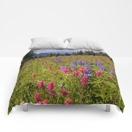 SHRINE RIDGE COLORADO SUMMER MOUNTAIN WILDFLOWERS LANDSCAPE PHOTOGRAPHY Comforters