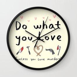 Motivational Poster Wall Clock