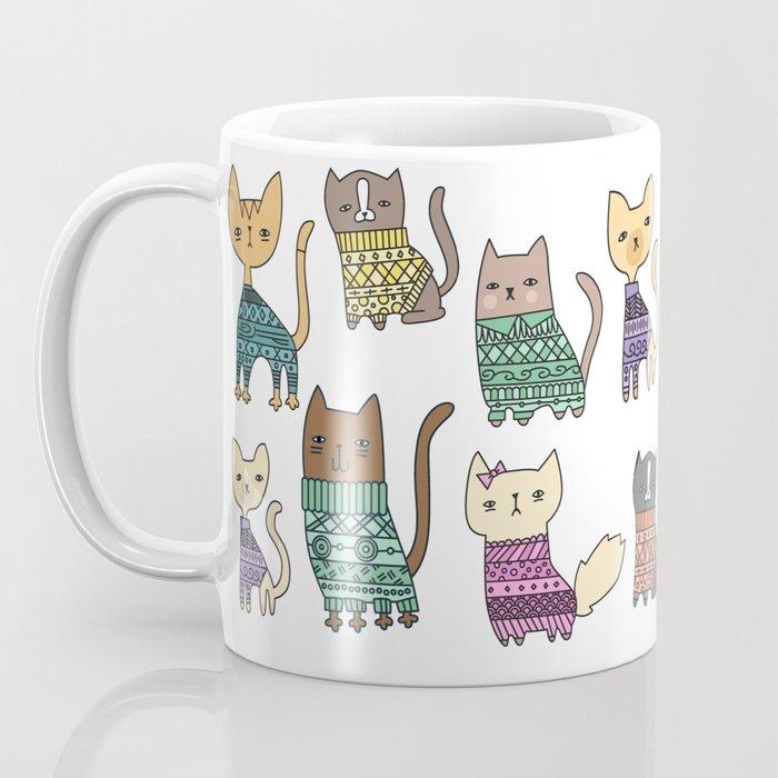 sweater cats Coffee Mug