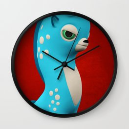 Cool Blue Wippo Wall Clock