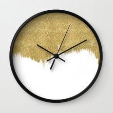 White & Gold Wall Clock