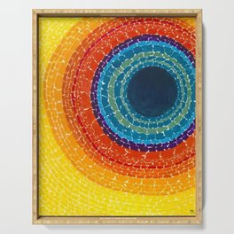 African American Masterpiece The Eclipse by Alma Thomas Serving Tray